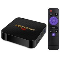 allwinner pro großhandel-4GB 64GB TV-Box Android 9.0 Allwinner H6 Quad-Core 4G 32G Streaming Media Player 2.4G Wifi MX10 Pro 6K Android9.0 TVbox 4G32G