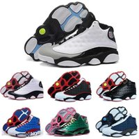 Wholesale best priced basketball shoes resale online - Shoes Box Mens Basketball With XIII Bred Black True Red Discount Sports Shoe Athletic Running shoe Best price Sneakers Shoes
