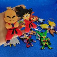 cadena de zinc nave al por mayor-Japón Anime Dragon Ball llavero de plástico Dragon Ball figura llavero llavero llavero bolsa cuelga Fahsion joyería nave de la gota Will y Sandy
