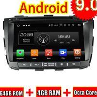 rádio de carro para kia venda por atacado-TOPNAVI Android 9.0 Car GPS Navigation CD player para Kia Sorento Stereo 2013 Radio DVD Media Center Audio 2 Din Octa Core 4 + 64GB