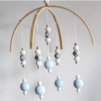 Wholesale baby chime rattles for sale - Group buy Baby Rattle Mobile Toys Wooden Beads Crib Toy Bed Hanging Newborn Wind Chimes Bell Nordic Kids Room Decoration Photography Props