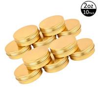 2oz 60G Aluminum Tin Jars Screw Top Metal Tin Cans Round Jars Bulk Food Tins Aluminum Tin Containers Candle Travel Tins Cosmetic Jar