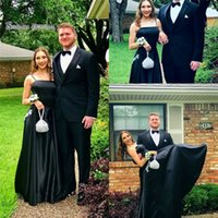 Wholesale white black appliques wedding dress for sale - 2019 Classic Black Aline Spaghetti With Appliques Evening Dress High end Customed Vestidos De Novia Party Gown