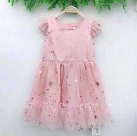 tutu brillante al por mayor-Vieeoease Girls Dress Bling Kids Clothing 2019 Summer Fashion Shiny Lace Tutu Princess Party Dress CC-136