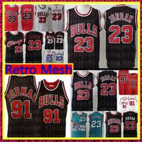 jerseys altos al por mayor-NCAA retro Michael Jersey secundaria Dennis Rodman # Scottie Pippen # jerseys del baloncesto insignias del bordado de malla retro S-XXL