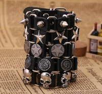 ingrosso braccialetti di cuoio fini per le donne-I monili del braccialetto Mens Braclet di modo di fascino coreano progettista dell'annata di amore della lega donne di fascino Imposta monili dei braccialetti in pelle pregiata per unisex
