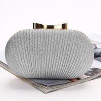 köpüklü çanta toptan satış-Bling Altın Gümüş Gelin El Çantaları Moda Stil Kadın Akşam Resmi Parti Debriyaj crossbody çanta Gelin Sparkle Gelin Çanta Için El Çantaları