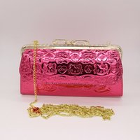 Wholesale pink rose clutch bag resale online - HELLO KITTY women messenger bags Bright surface PU material handbag Four color red rose red and pink can choose