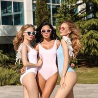 ingrosso cinture rosa calde per le donne-2019 estate nuovo costume da bagno costumi da bagno leopardo stampa ala bikini per la donna sexy condole cintura gonne moda hot