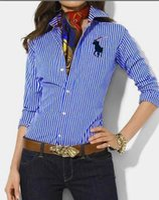 Wholesale usa women casual dress resale online - 2019 autumn winter mens Designer Dress shirt women Long Sleeve casual social shirts fashion USA Brand polo shirts