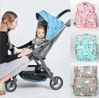 moda bebek bezleri toptan satış-2019 Alpaka Bebek Bezi Çanta Anne Sırt Çantası baskılı Moda Nappy büyük Kapasiteli Doğum Hemşirelik Seyahat Sırt Çantası Hemşirelik Tote Çanta