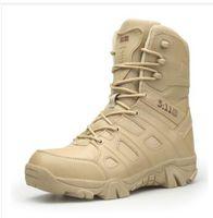 armee-militärschuh groihandel-2018 Outdoor Wanderschuhe herren Desert High-top Militärische Taktische Stiefel Männer Kampf Armee Stiefel Militares Sapatos Masculino