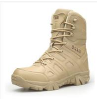 zapato militar del ejército al por mayor-2018 zapatos de senderismo para hombres al aire libre Desert High-top Botas tácticas militares Hombres Combat Army Boots Militares Sapatos masculino