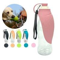 katlanmış su şişesi toptan satış-Pet Su Şişesi Köpek Su Şişesi Taşınabilir Yaprak Tipi Katlanır Su besleyici seyahat için açık almak kolay