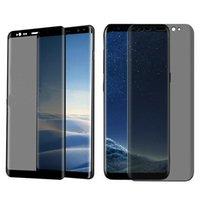 ingrosso protezione protettiva temperata premium-Premium Full Cover in vetro temperato per Samsung Galaxy S9 S8 Plus Note 8 9 s10 e PRIVACY Pellicola proteggi schermo anti spy huawei p30 pro iphone