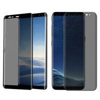 pantalla completa privacidad vidrio templado al por mayor-Tapa completa Premium Vidrio templado para Samsung Galaxy S9 S8 Plus Nota 8 9 s10 e PRIVACIDAD Anti espía Protector de pantalla para película Huawei P30 Pro iPhone