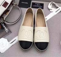 modell sandalen großhandel-Mit Box 2018 Sommer Sandalen Espadrilles Fisherman Schuh Niedrige Ferse Echtes Leder Freizeitschuhe Viele Farben Größe 35-42 Modell