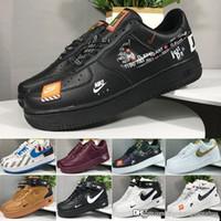 zapatillas de correr con descuento para mujer. al por mayor-Nike air force 1 one off white descuento marca Dunk mujeres de los hombres de los zapatos corrientes FlyLine, Deportes Skateboarding Ones zapatos de alta D6304 escotados Blanco