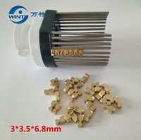 Wholesale brass machine parts resale online - Freeshipping MM T type hot stamping letters coder letters print head coder printer for MY coding machine Metal nail