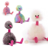 плюшевый фаршированный тед оптовых-Юмор Тед Рейнбоу Страус, Разноцветная Птица, Утка, Мягкие плюшевые игрушки, подарки для мальчиков, девочек, повседневные развлечения, праздники и юбилеи