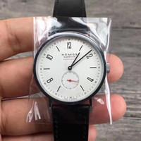 mm vestuário venda por atacado-2019 nova marca Nuomosi relógio mecânico entusiastas assistir mulheres homens usam relógios relógios de roupas de couro relógios de pulso moda casual wat