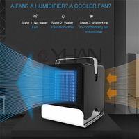 tragbare hausklimaanlagen großhandel-USB Mini Tragbare Klimaanlage Luftbefeuchter Luftreiniger 2 Farben Desktop Luftkühler Luftkühler für Office Home