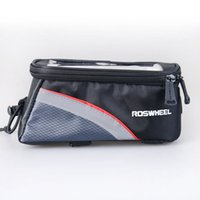 Wholesale roswheel phone resale online - 5 Inches Front Roswheel Bike Frame Bag Cell Phone Case Cycling Pouch Touch Screen Mtb Bycicle Bicycle Basket