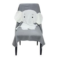 новорожденные трикотажные одеяла оптовых-70 * 110 см слон одеяло 3D ухо одеяло дети вязаные одеяла INS горячей продажи пляжный коврик новорожденный ребенок дети одеяло