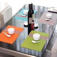 juegos de servilletas al por mayor-pvc esteras de comedor mantel Set de mesa cuenco almohadilla para compresa mesa de comedor estera bandeja posavasos niños escritorio
