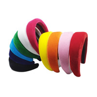 headbands inspirados venda por atacado-2019 várias cores grossa de veludo de pelúcia headband do vintage inspirado alice acolchoado faixa de cabelo nova moda ins