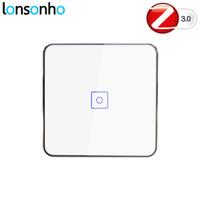 interruptor de pandillas al por mayor-Lonsonho Smart Zigbee Dimmer Switch EU 1 2 3 Gang Control remoto inalámbrico Interruptor de luz del panel táctil de pared Smart Home Automation