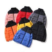 abrigos gruesos para hombre al por mayor-Para hombre del nuevo diseñador de invierno abrigos esquimales Prendas de vestir exteriores de la cremallera remiendo caliente del collar del soporte abrigos Hombre Moda invierno gruesa Parkas