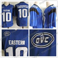 camiseta de fútbol con descuento s al por mayor-Eastern Illinois Panthers Descuento por venta caliente # 10 Jimmy Garoppolo cosido azul FCS NCAA College Jerseys S-3XL