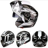 ingrosso caschi moto aperti-2019 New Knight protection JIEKAI Casco moto double face open face JK105 ABS Casco moto apribile con visiera per obiettivo PC