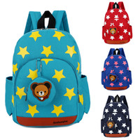 anaokulu çantaları toptan satış-Tasarımcı-Erkek Kız Karakter Sırt Çocuk Okul Öğle Yemeği Kitap Çanta Seyahat Kreş Sırt Çantası
