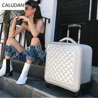 bagage de voyage en cuir achat en gros de-CALUDAN Petite valise en cuir pour sac à main, valise 20