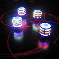 flash de giro al por mayor-NUEVO Flashing Light Music UFO Gyro, Flash Gyro, Glowing Toy, Música Fidget spinner Gyro rotar dos minutos, Regalos creativos
