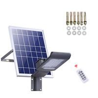 ingrosso lampada solare ad alta potenza-Luce solare a LED SMD ad alta potenza LED Sicurezza di inondazione Luce da giardino IP66 impermeabile Lampada solare a palo per proiettore