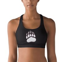 Wholesale bra custom for sale - Group buy Montana Grizzlies football white logo Polyester Fiber Vest Breathable Top Sweat Absorbent Yoga Bra Elastic Custom Yoga Vest