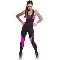 mavi süt tozlukları toptan satış-SVOKOR Sıkıştırılmış Spor Takım Elbise Kadın Büyük Boy Spor Tulum Kadın Egzersiz Tulum Backless Örgü Tek Parça Kıyafetler Tulum Setleri
