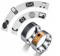anillos nfc al por mayor-Al por menor dedo de Inteligencia timbre inteligente magia tarjeta IC módulo ID NFC Smart-Anillo-Watch para smartphone con NFC resistente al agua