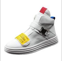 ayak bileği ayakkabıları erkekler için toptan satış-Yeni Deri Ayak Bileği Çizmeler Erkekler İngiliz Tarzı Kayış Erkekler Çizmeler Fermuar Erkek Martin Çizmeler Yüksek Kesim Toka Erkekler Rahat Ayakkabılar H414