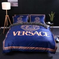 kral yorgan set satış toptan satış-Sıcak Satış Tasarımcı Lüks Yatak Queen Size Yataklar Yorgan Yatak Pamuk Çarşaf Marka 88 Setleri