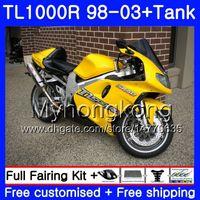 +tank For Suzuki Tl1000r 1998 1999 2000 2001 2002 2003 Glossy Black 38hc.19 Tl1000 R Tl 1000 R 1000r 98 99 00 01 02 03 Fairings Automobiles & Motorcycles