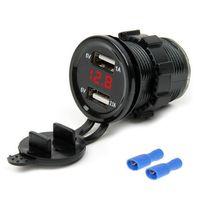 Wholesale led voltmeter 12v for sale - Group buy 12V V A Car Cigarette Lighter Socket Dual USB Charger Adapter LED Voltmeter