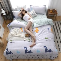 Wholesale full beds kids resale online - Cartoon Dinosaur Bedding Set For Kids Cute Fashionable Duvet Cover King Queen Twin Full Single Comfortable Bed Cover with Pillowcase