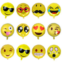 Wholesale balloon for boys toy online - 500pcs inch Round Big Cute Emoji Balloon Foil Helium Balloons Classic Toys For Boy Girls Party Decor Christmas Gift