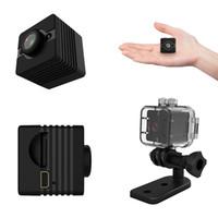 hd de câmera de ação de esportes ao ar livre venda por atacado-SQ12 HD 1080p Mini Night Vision Camera Filmadora Mini DV Desporto Outdoor Voz Video Recorder Ação 40PCS câmera à prova d'água / LOT