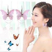 Wholesale butterfly costumes for women resale online - Metal Butterfly Shape Short Earring For Women Costume Jewelry Accessories For Party Wedding Eardrop Jewelry
