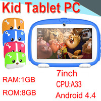 Wholesale quad core 1gb 8gb tablet online - 2018 Kids Brand TabletPC inch Quad Core Children Tablet Android Allwinner A33 Player GB WIFI Speaker Protective Cover XPB
